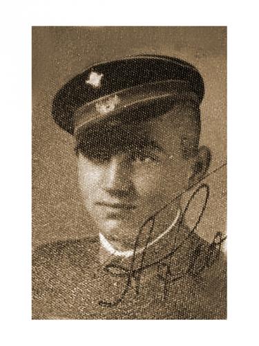 Андрей Георгиев като ученик в Ломската мъжка гимназия  в средата на 30-те години на 20-ти век
