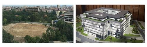 нова сграда на МУ-София
